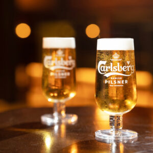 Carlsberg & Strongbow £3 a pint. All day everyday
